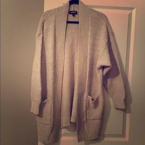 Express chunky knit cardigan sweater